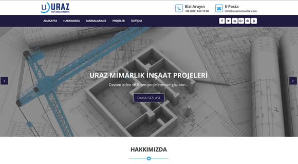 Uraz Architecture Corporate Introduction Site