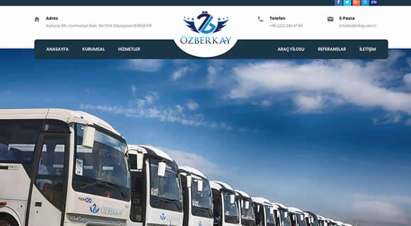 Özberkay Corporate Presentation Site
